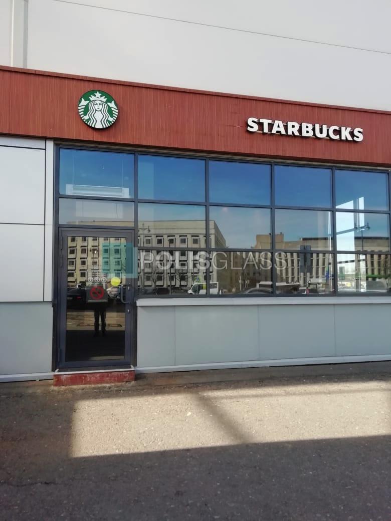 Остекление кафе Starbucks
