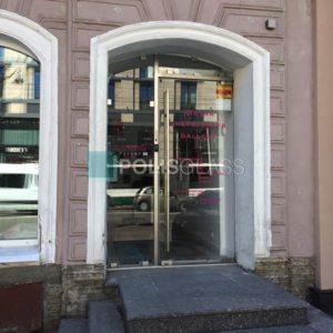 Цельностеклянная входная дверь