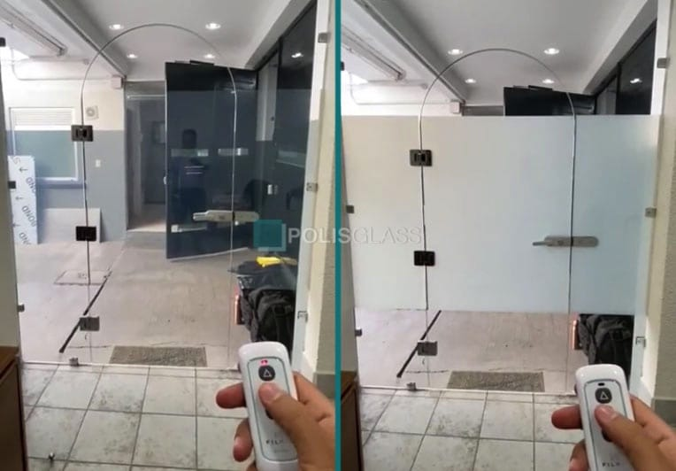 дверь с переменной прозрачностью
